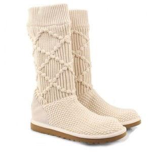 Ugg Australia 'Classic Argyle' Sweater Knit Boot